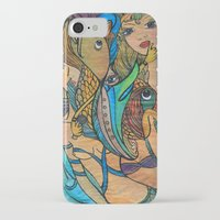 mermaids iPhone & iPod Cases featuring Mermaids by Valerie Parisius