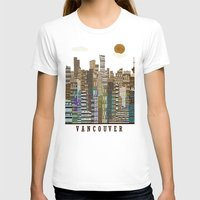 vancouver T-shirts featuring Vancouver skyline by bri.buckley