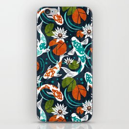 Koi Pond - Orange iPhone Skin
