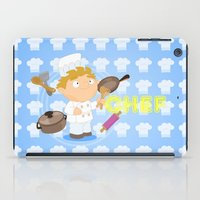 chef iPad Cases featuring Chef by Alapapaju