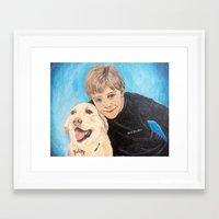 best friends Framed Art Prints featuring Best Friends by gretzky