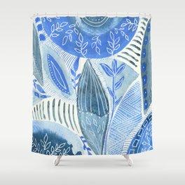 Watercolor improvisation 12 Shower Curtain