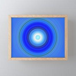 Deep Blue Swirl Framed Mini Art Print