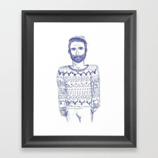 Escuchar Framed Art Print