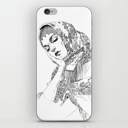 Strong, beautiful, deep, sad. Russian. Yury Fadeev iPhone Skin