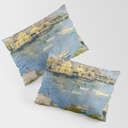 Classical Masterpiece 'Gloucester Harbor Landscape' by Frederick Childe Hassam Pillow Sham