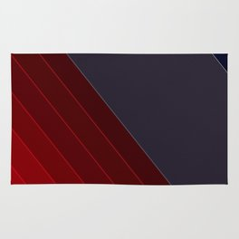 Red black abstract pattern Rug
