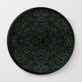 Rivers and Roads 3 Wall Clock