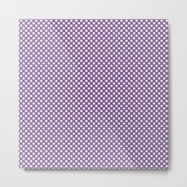 Royal Lilac and White Polka Dots Metal Print