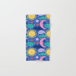 Swedish Folk Celestial in Country Blue Hand & Bath Towel