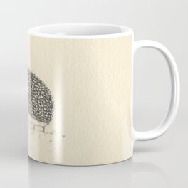 Monochrome Hedgehog Coffee Mug
