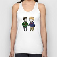 in the flesh Tank Tops featuring In The Flesh Christmas by ShockingBlankets