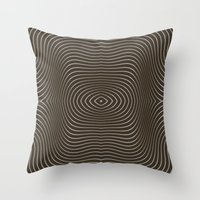 tree rings Throw Pillows featuring Tree Rings by Morgan Bajardi