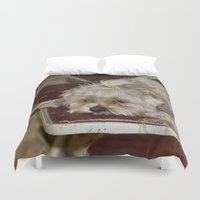 teddy bear Duvet Covers featuring Teddy Bear by IowaShots