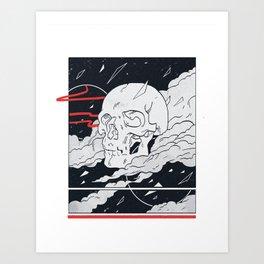 HEAD IN THE SKY Art Print