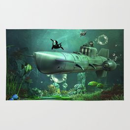 Awesome submarine Rug