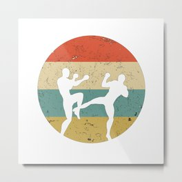 Kickboxing Muay Thai Vintage Gift for Martial Arts Fighters Metal Print