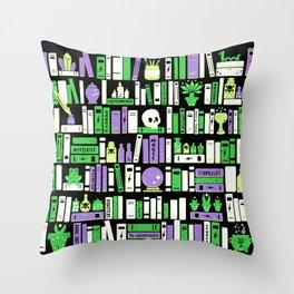 Hex Libris Throw Pillow