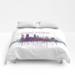 NY New York City Skyline v5 Comforters