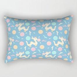 Pastel Bubblegum Dragon Pattern Rectangular Pillow