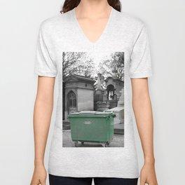 """Le recyclage (Cimetiere du Pere Lachaise, Paris) """"A SAFE PLACE"""" series Unisex V-Neck"""