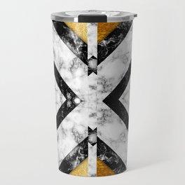 Golden foil and marble Travel Mug