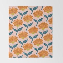 Floral_pattern Throw Blanket