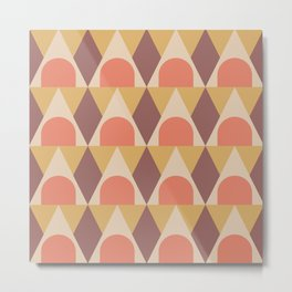 Elegant Art Deco Geometric Pattern 321 Metal Print