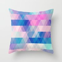 diamonds Throw Pillows featuring diamonds by Sylvia Cook Photography