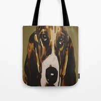 harley Tote Bags featuring Harley by Chuck LaVoie