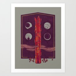 'Neath the Tower of Incomprehensible Sorcery Art Print