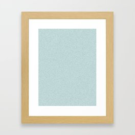 Light Cyan Saturated Pixel Dust Framed Art Print