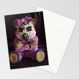 Teddy with attitude Stationery Cards