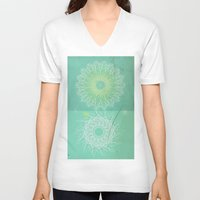 morocco V-neck T-shirts featuring Morocco Mint by ZenzPhotography
