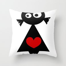 ···MuÑeQUita MoOi MoOi... Throw Pillow