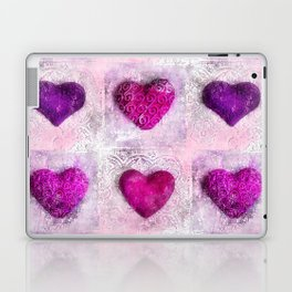 Pink Passion colorful heart pattern Laptop & iPad Skin