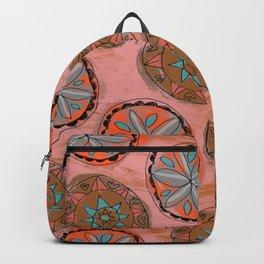 Pink Pennsylvania Dutch Hex Pattern Backpack