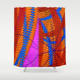 Random Kinetic Colors 59 Shower Curtain