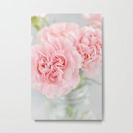 Pale Pink Carnations 3 Metal Print