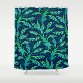 Paradise Leaves - Green Shower Curtain