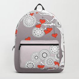 tree of love with mandalas Backpack