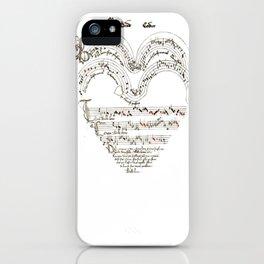 Chanson L'Amour Vintage Romance iPhone Case