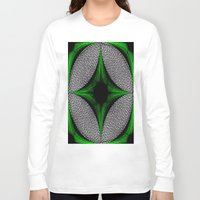 gem Long Sleeve T-shirts featuring Green Gem by Sartoris ART