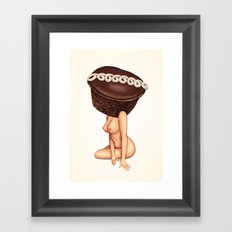 Cupcake Girl Framed Art Print