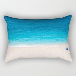 Alone On The Beach Rectangular Pillow