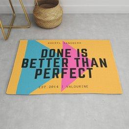 Sheryl Sandberg Done is Better Than Perfect Rug