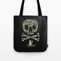 whisky Tote Bags featuring What's your poison? by Wharton
