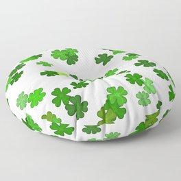 Shamrocks Falling - Pattern for Saint Patricks Day Floor Pillow