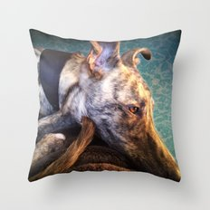 Greyhound Lurcher Throw Pillow
