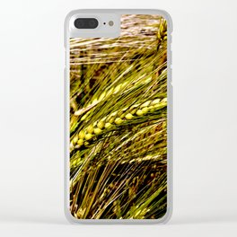Golden Wheat Field Clear iPhone Case